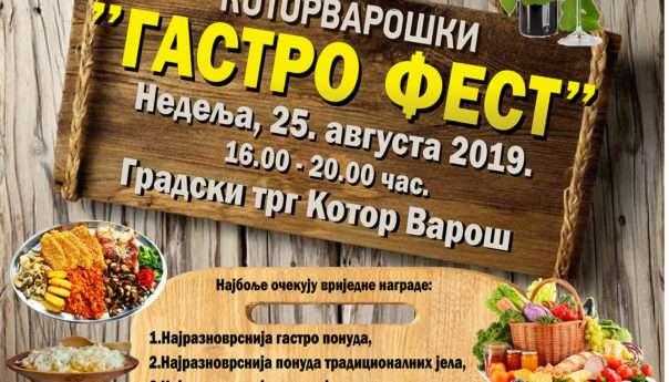 U nedjelju Gastro-festival na Gradskom trgu
