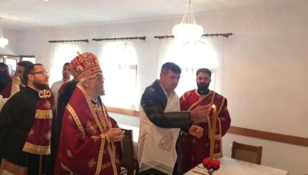 Епископ бањалучки Јефрем освештао црквену салу у Ваганима